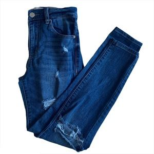 Garage high rise ripped jeans